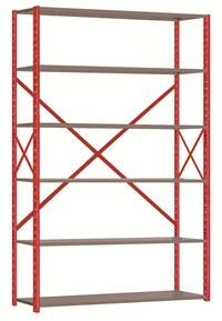 ShurRack shelving systems are reinforced for greater weight capacities.