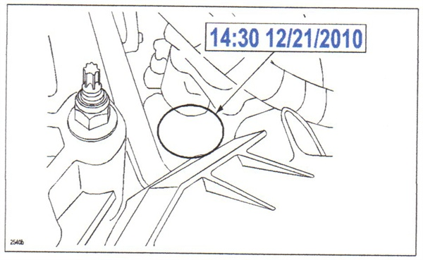 The suspect cylinder head's stamp will reveal a build time/date of 14:30 12/21/2010 TO 14:00 1/7/2011.
