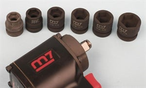 You don't need to buy the stubby sockets, but they certainly come in handy to minimize the working package. The six-sided hex sizes range from 1/2-inch to 7/8-inch.