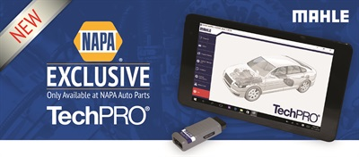 The Mahle Service Solutions TechPRO diagnostic scan tool is now available exclusively through NAPA Auto Parts.