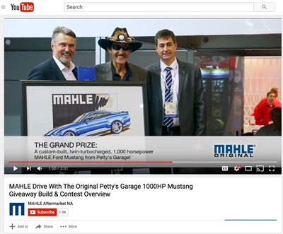 """The first video of the series reviews the rollout of the Mahle Original gasket brand at 2016 AAPEX; showing """"The Original"""" King Richard Petty playing a prominent role in the announcement of the """"Drive with the Original"""" Technician Promotion."""