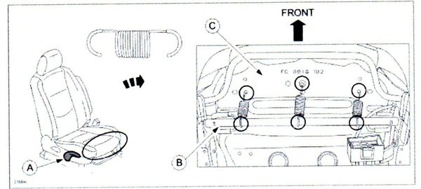 Figure 1. Note spring shape for RX-8, Mazda5 and Mazda6.