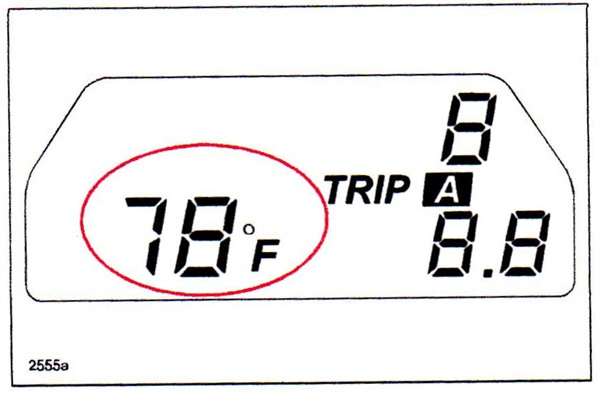 Don't automatically blame the temperature sensor if the display temperature is suspected of not matching outside temperature.