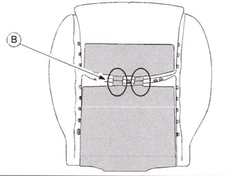 The original seat cushion warmer bridge was positioned at the center. Pressure on the seat cushion may lead to wire disconnection.