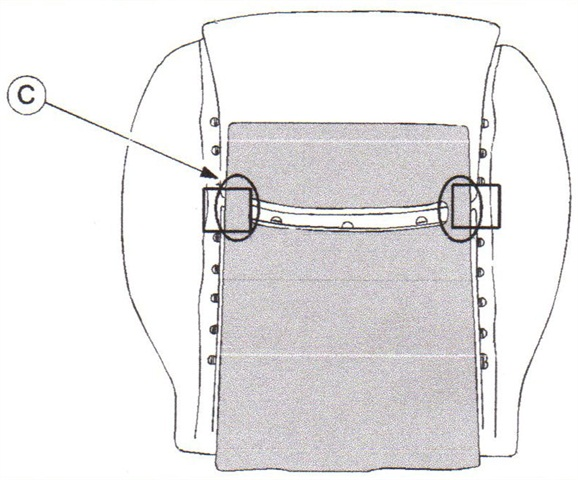 The modified seat cushion warmer features bridge connections at the cushion sides.
