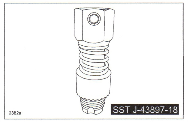 Use Mazda's thread cleaning tool SST J-43897-18 to clean the female threads in the converter or pipe.