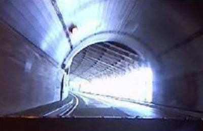 Example of backlight from tunnel exit.