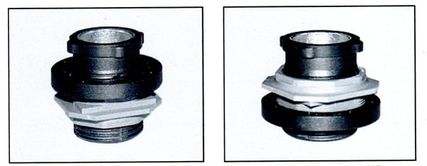 At left: Changed banjo bolt (delivery condition). At right: Modified banjo bolt for the 207.