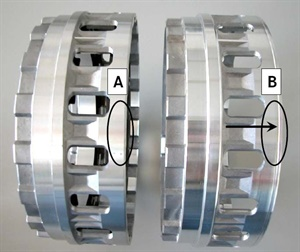 Figure 1: : Notice the differences in the two versions of the B1 and B3 multi-disk brake.