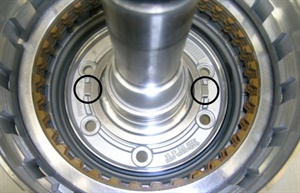 Figure 4: Verify correct positioning for the anti-twist locks for the thrust bearing.
