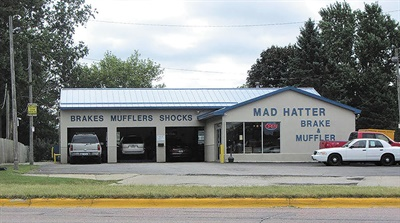 The catchy Mad Hatter Auto Service name is well recognized in Cedar Falls, Iowa.
