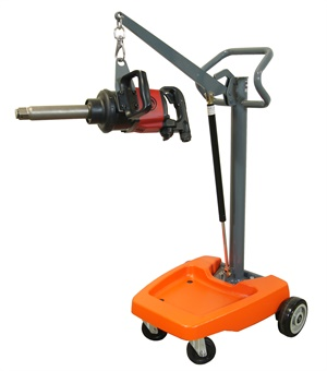 Martins' Impact Boom allows you to position the impact wrench at the desired height. (Courtesy of Martins Industries)