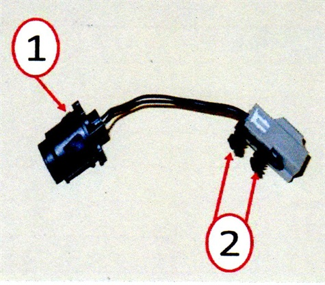 Passive entry switch. 1. Alignment tabs; 2. X-mas clips.
