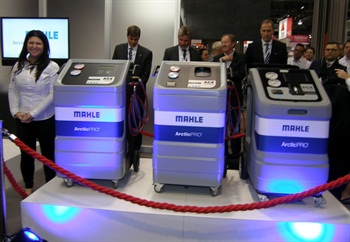 Mahle unveiled new ArcticPro A/C servicing units at the 2015 AAPEX Show. Two of the units can be used with the company's TechPro diagnostic tool.