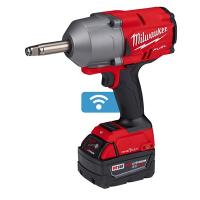 Milwaukee Tool says its new M18 Fuel 1/2-inch extended anvil controlled torque impact wrench with the One-Key digital platform enables users to perform tire service faster without the hassle of pneumatic hoses, compressors and torque sticks.