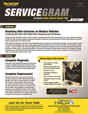Monroe and Walker Servicegrams are now available through the Monroe Shocks and Walker Emissions Control mobile apps.