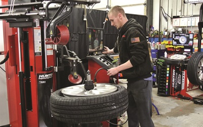 Neubauer's shop regularly updates their shop equipment to take advantage of evolving technology, investing approximately $38,000 annually in equipment and tools.