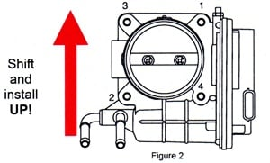 Actuator bolt tightening sequence (to 74 in.-lbs).