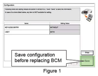 Always save the configuration before replacing a BCM.