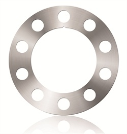 The brake alignment shims are precision tapered, available in a variety of thicknesses. A small V-notch on the shim indicates the thinnest area of the shim.