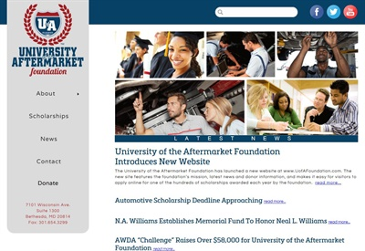 The easy-to-navigate website serves as the go-to place to learn about the foundation and its scholarship opportunities.