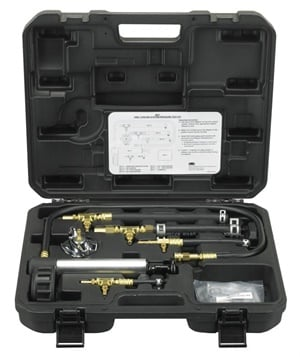 OTC Universal Cooling System Pressure Tester Kit is fast and efficient. (Courtesy of OTC)