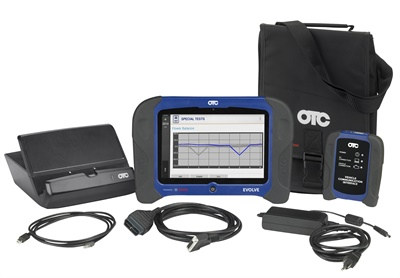 The OTC diagnostic software update for the Evolve (shown) and Encore, Bravo 2.10, features major updates that include new coverage for multiple European, domestic and Asian brands.