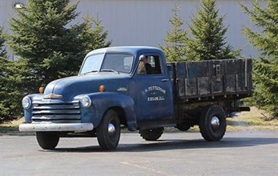 This is how the pickup truck looked before the restoration began.