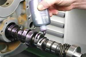 A new camshaft should always be coated at both journals and lobes, using a high pressure lubricant appropriate for the type of cam. Flat-tappet cams absolutely require a dedicated high pressure lube for break-in protection, but even a roller cam can benefit, especially when used in conjunction with relatively high pressure valve springs.