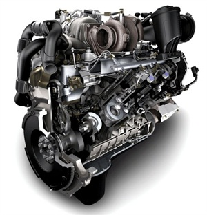 Powerstroke 6.4L, featured in 2008-2010. Photo courtesy Ford Motor Co.