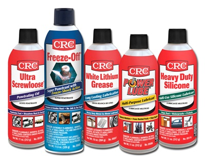 CRC has released new packaging for professional and DIY lubricants and penetrants: Ultra Screwloose Penetrating Oil, Freeze-Off Super Penetrant,  White Lithium Grease, Power Lube Multi-Purpose Lubricant and Heavy Duty Silicone.and Heavy Duty Silicone.