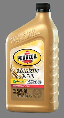 Note the dexos1 logo on this container of Pennzoil, indicating GM approval. Licensed oils will feature the dexos logo on the front of the container and the product's license number on the rear.