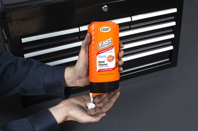 Permatex Fast Orange Rocker Cap Bottle won the Gold Medal for package design at the 2015 NACD Packaging Awards.