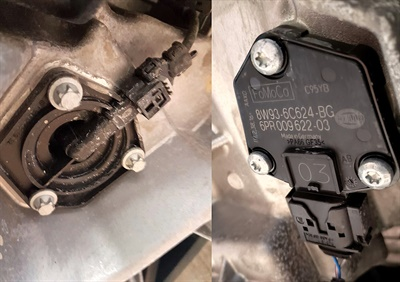 These are two examples of Mercedes-Benz and a Jaguar oil level, temperature and quality sensors.
