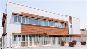 """Promotec S.r.l. says its new head office is an automotive """"power center"""" that houses the offices of the trade associations connected to the Autopromotec show."""
