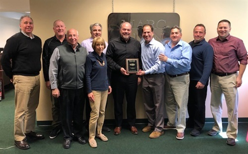 Pictured from right to left; Ryan Anderson, product manager, Mann-Hummel Purolator Filters; Lee Becker, sales, Marc Alan; Jim Screnci, program group manager, Mann-Hummel Purolator Filters; Marc Weiss, president, Marc Alan; Jeff Frey, sales director, Mann-Hummel Purolator Filters; Brenda Scesney, office manager, Marc Alan; Rich Pallai, general manager, Marc Alan; Bob Visco, sales, Marc Alan; David Fulton, sales, Marc Alan; Jon Grossberg, sales, Marc Alan. Not pictured: Marc Alan & Associates Sales Representatives Dennis Monahan, Mark Ellington and John Kachapis.