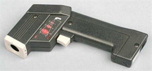 For those who wish to perform further brake system diagnostics, a portable pyrometer (infrared temperature gun) allows you to easily monitor wheel, caliper and rotor temperatures immediately following a road test. Higher than average brake temperatures can pinpoint a potentially dragging caliper.