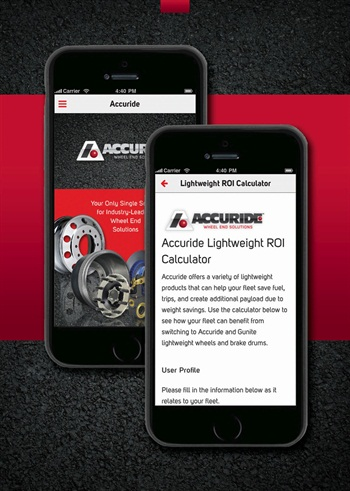 Accuride's new Lightweight ROI Calculator is available on its website and mobile application.
