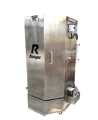 The new Ranger RS-500DS stainless-steel spray wash cabinet is designed to resist rust while cleaning transmissions, engines, industrial machinery, brake drums and more.