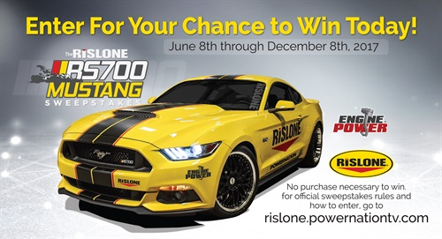 """Rislone is partnering with PowerNation TV to build a 700 hp RS700 Mustang on the TV show """"Engine Power"""" and then giving it away to create awareness and drive demand for Rislone Nano Prime Engine & Oil Additive."""
