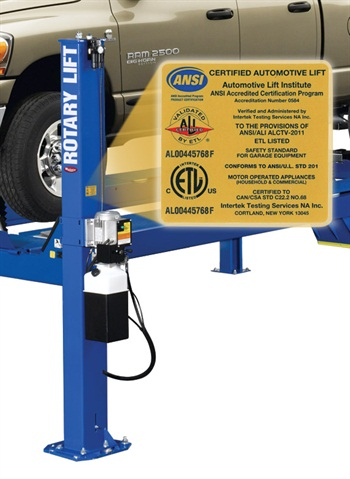 All previously certified Rotary Lift products have been recertified to wear the updated ALI gold label.
