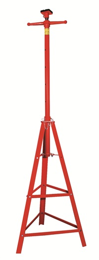 The new RS4 supplementary tripod jack stand from Rotary Lift enables technicians to stabilize vehicles raised on lifts while removing heavy components like transmissions and differentials.
