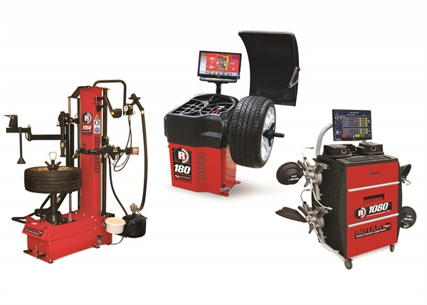 Tire changers, wheel balancers and alignment equipment are now offered under the Rotary brand.