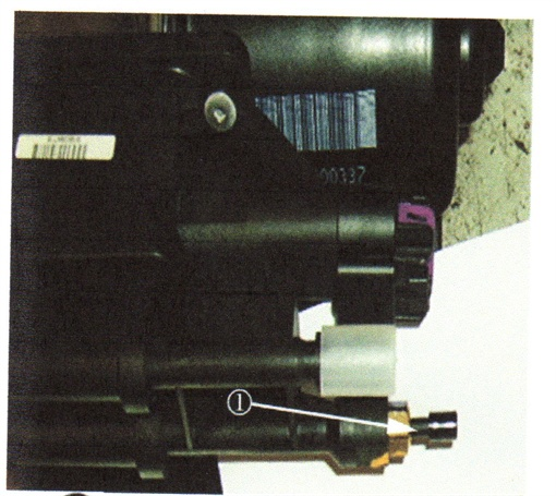 This photo shows the accessory port plug extended (see lower right of photo).