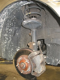 Loose calipers can cause a clicking noise during turns. Worn/damaged or improperly installed hub bearings can cause grinding or clicking noises on the outer hub during a turn. For example, the left hub making a noise during a right-hand turn.