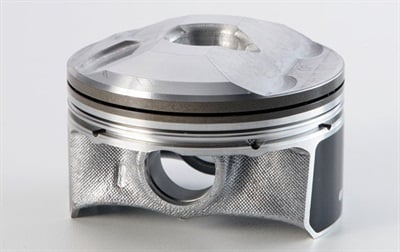 The unique Skyactiv hypereutectic piston features a center-dome cavity designed to improve combustion efficiency.