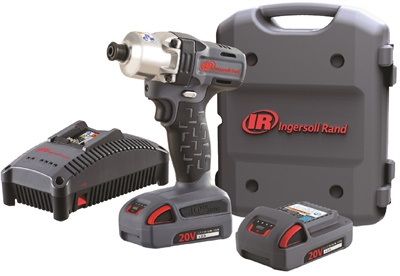 Big things come in small packages. Among the wide offerings in the cordless world is Ingersoll Rand's 20V 1/4-in. hex impact driver with quick-change feature and 165 ft.-lbs. maximum torque. Photo courtesy of Ingersoll Rand