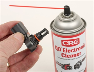 Never try to clean the sensors by touching/wiping. Spray to clean using only an electrical contact cleaner solvent.