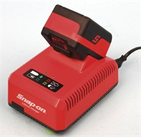 The intelligent battery charger provides immediate and easily viewed charge status.