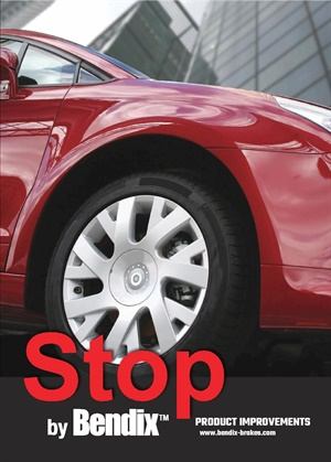 The new Bendix Brakes brand Stop by Bendix brochure details recent enhancements to the product line and its advantages over competing products.